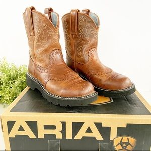 ARIAT Fatbaby 7B Brown Leather Western Boots ATS